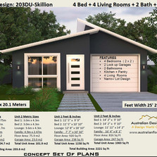 Duplex 203du Skillion Roof