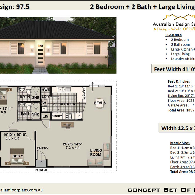 Free 2BED SMALL HOME Design