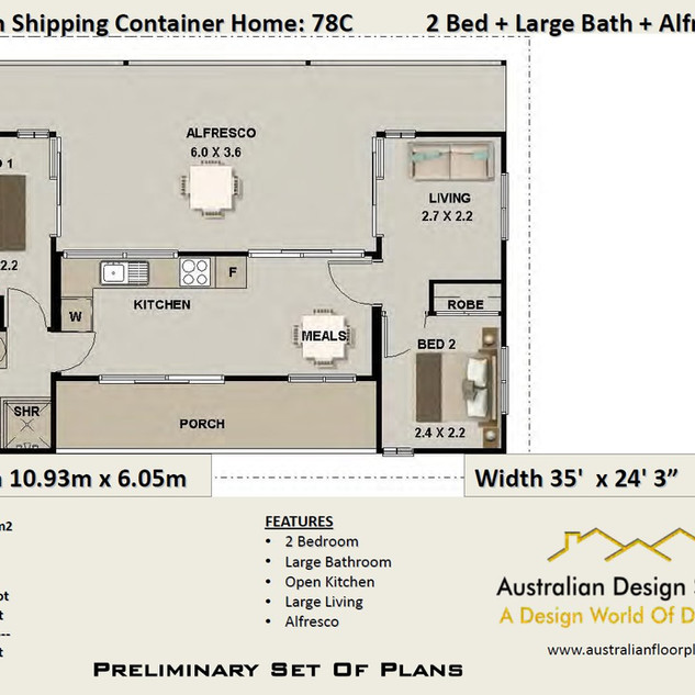 Design 78SC: Free Shipping Container House Plan
