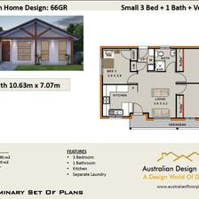 66Gr Free 3 Bed House Plan Australia
