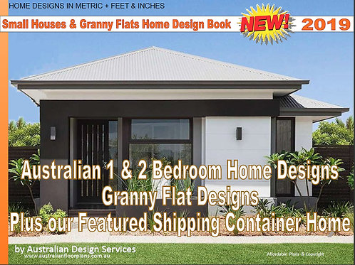 Small Houses & Granny Flats Home Design Book | 2 Bed and 1 Bed house plans