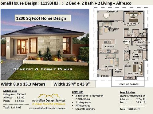 Modern Granny Flat Home Design 2 bedroom : 60SBH-LH