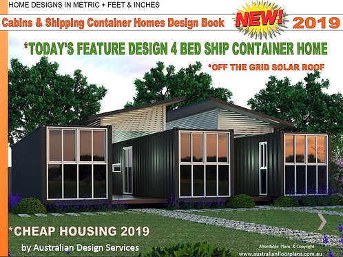 Small Houses, Cabins, Shipping Container Home Design Book