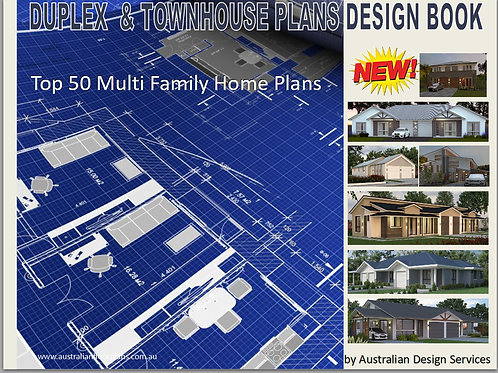 Duplex and Townhouse Home Design Book-V6 Top 50 Multi Family Hou