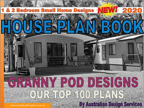 Granny Pods Plan Book Small & Tiny Australian and International Home Plans