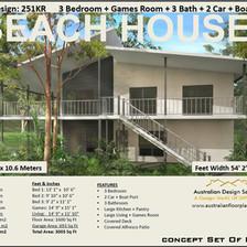 Beach House Plan 251KR