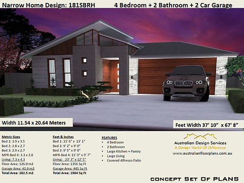 Simple four bedroom house plans  | 181SB House Plan