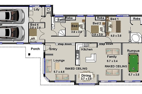 4 BEDROOM - small lot home designs | 220 Lane House Plan