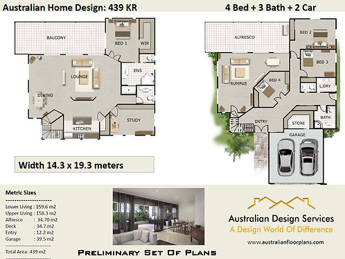 439 KR   Modern double storey houses with balcony :439.0 m2