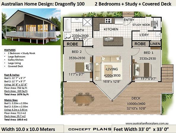 100dragon 2 Bedroom Kithome floor plan