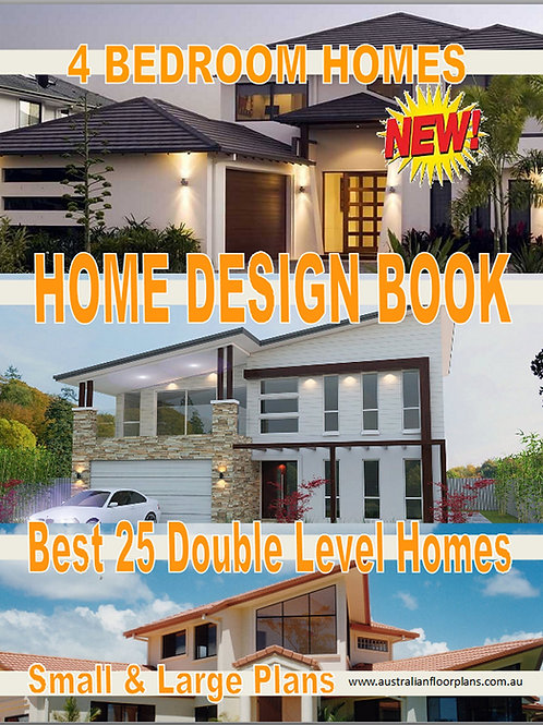 4 bedroom Two ( 2) Level House Plans Book