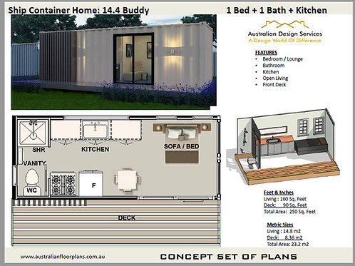 1 Bedroom Shipping Container Home: 20Ft Buddy