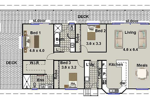 278 WH - 4 Bed Pole Home : 277.8 m2   Preliminary House Plans