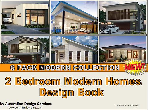 TOP 6 : Modern Style 2 Bedroom Small House Plan Design Book