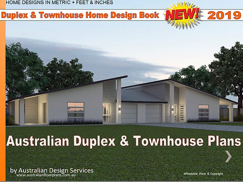 2019 Australian Duplex & Townhouse Home Design E-Book