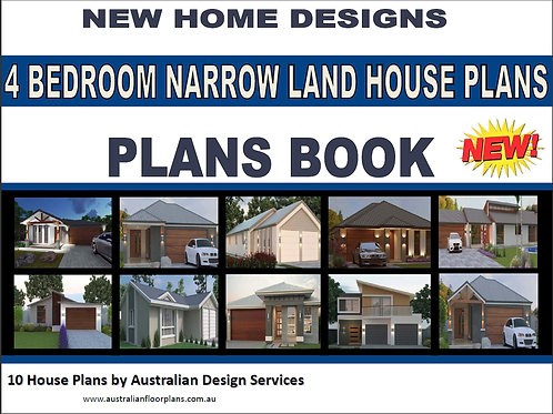 4 Bedroom Narrow Land House Plans - 10 House Plans Book