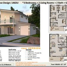 3 Bedroom Narrow Lot House Plan