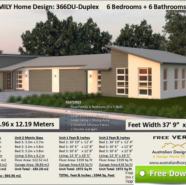 Duplex Design 6 Bedrooms Free