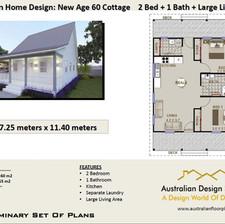 60 Cottage Free 2 Bed House Plan Australia