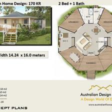 2 Bed Round House Plan-ausplans