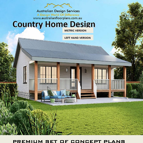 Country Style 2 Bedroom House Plan:  84.96LH