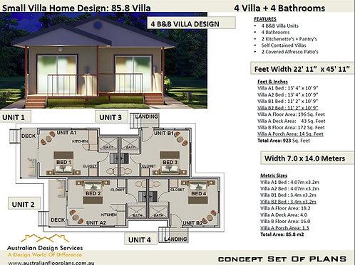 Small Villa Home Design: 85.8 Villa
