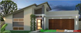skillion roof house plans