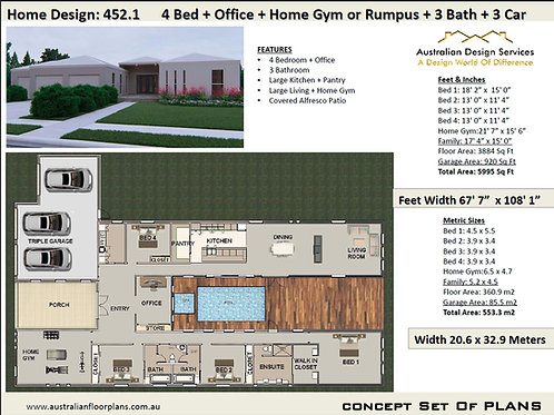 Large Home Plan 452.1KR