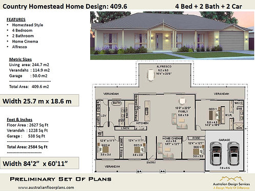 LUXURY -Acreage Home Design : 409.6 m2   409.6 RH