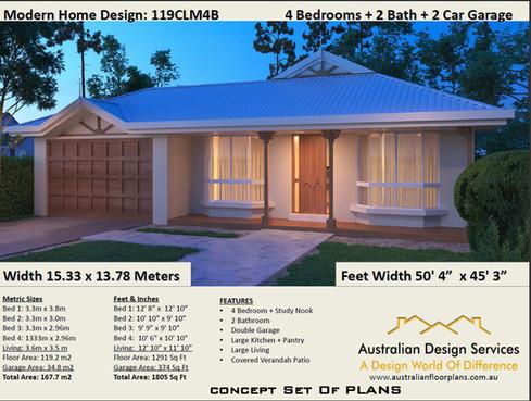 1194B-4Bedroom - KitHome - Australia