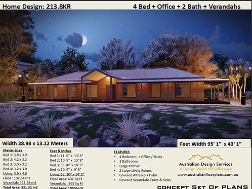 Country Homestead House Plan:213.8KR