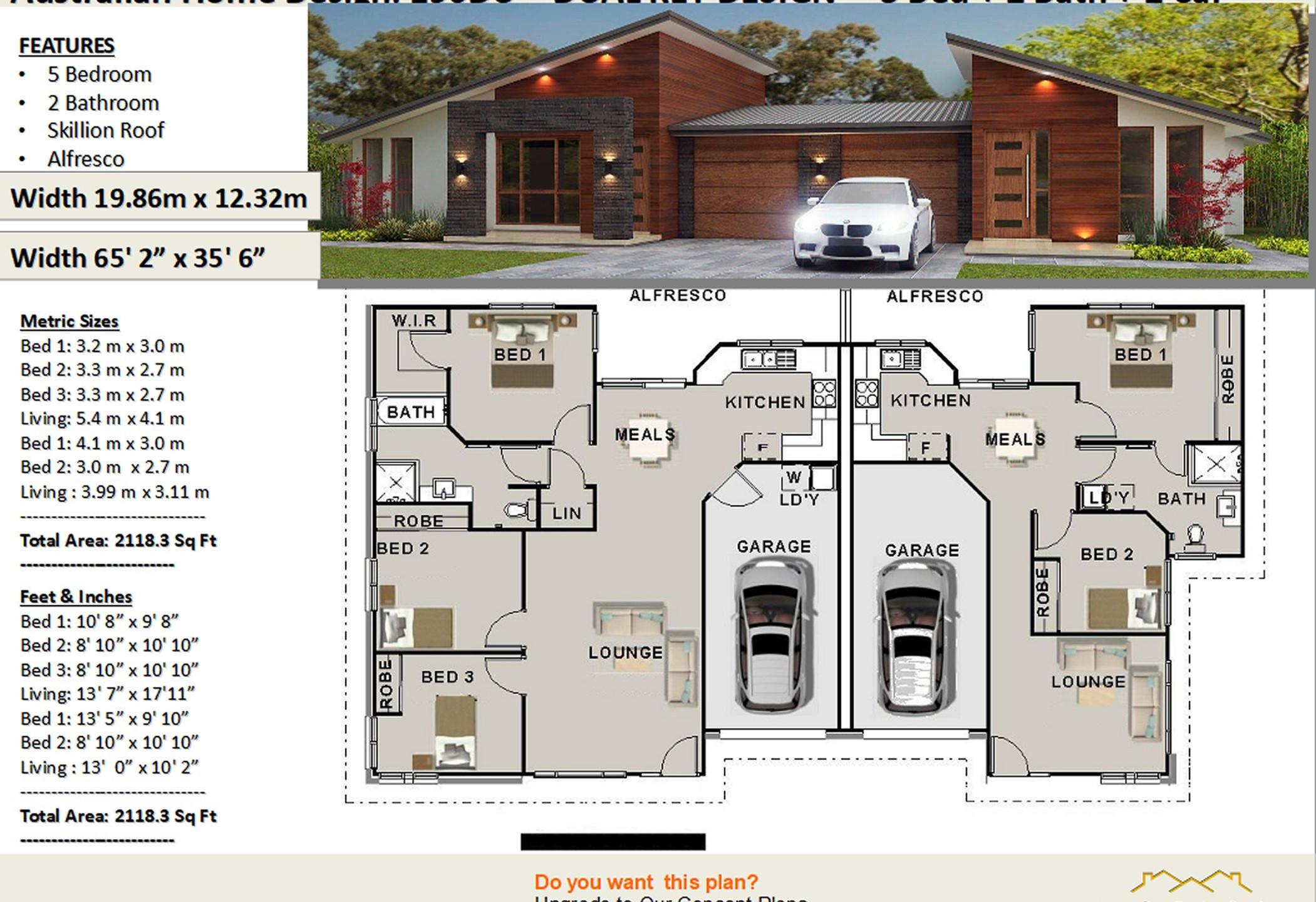 5 bedroom dual key duplex