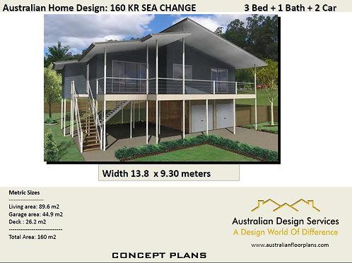 160KR Beach | Sea Change 2 Storey 3 Bed : 150.3 m2 | Preliminary House