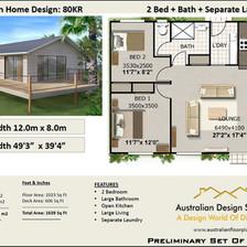 80kr-74wh Free 2 Bed Homestead House Plan Australia