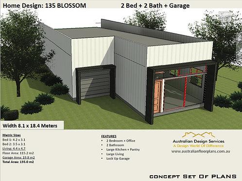 Modern Granny Flat Home Design 2 bedroom : 135 BLOSSOM