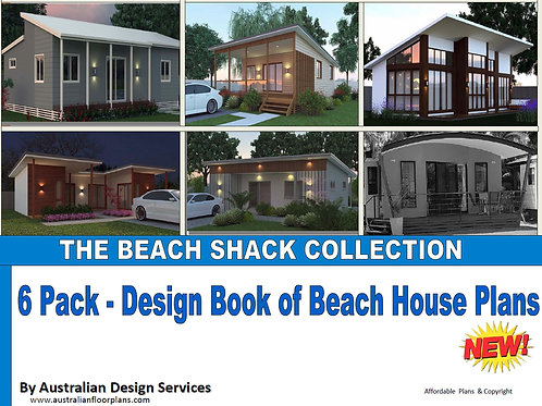 BEACH SHACK COLLECTION-6 Pack Design Book of Beach Shack House Plans