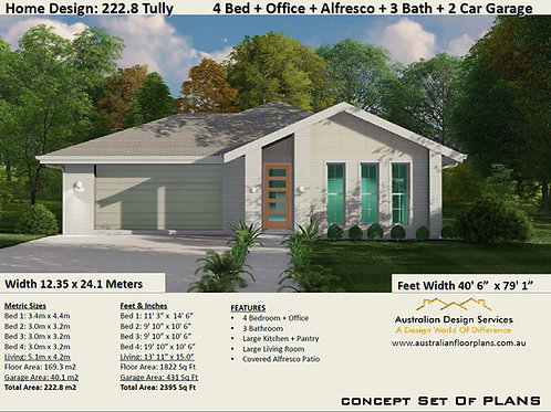 222.8 Tully 169.3 Sq Meters Living House Plan