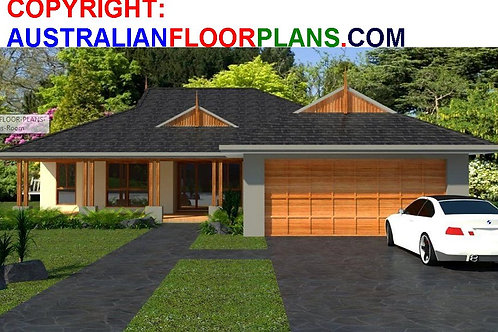 Four bedroom modern house plans  | 180 CLM House Plan