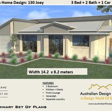 3 Bedroom Modern House Plan130 Joey