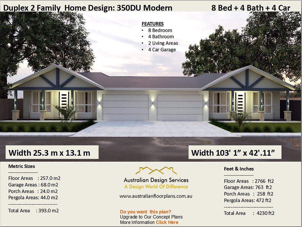 8 Bedroom duplex design