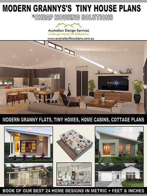 Modern Granny's Tiny House Plans-EBOOK- -Small and Tiny House Plan Design E-Book