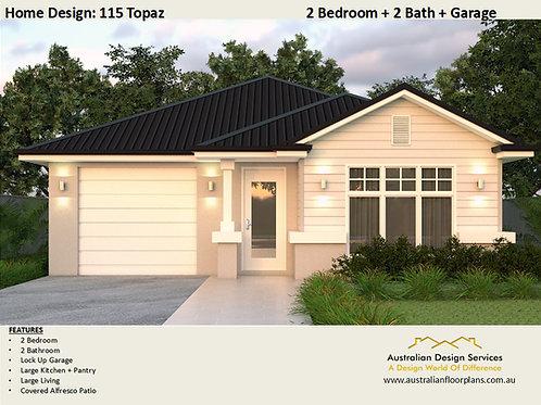 Hamptons 2 Bed Home Design: 115 Topaz