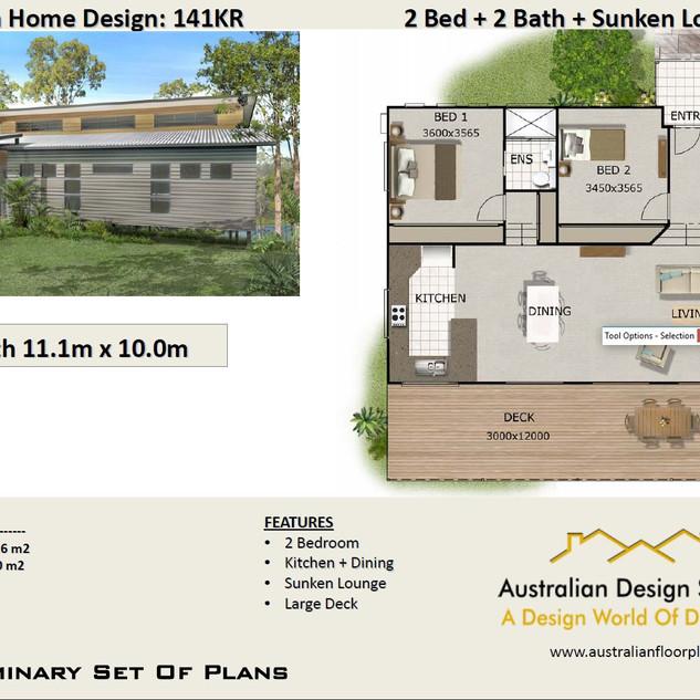 2 Bedroom Split Level House Plan