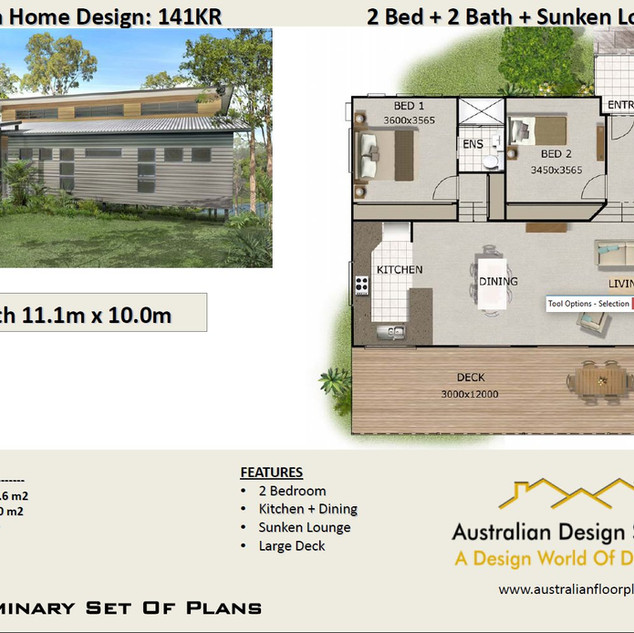 2 Bedroom Split Level House Plan