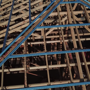 New home Counstruction- Roof Trusses