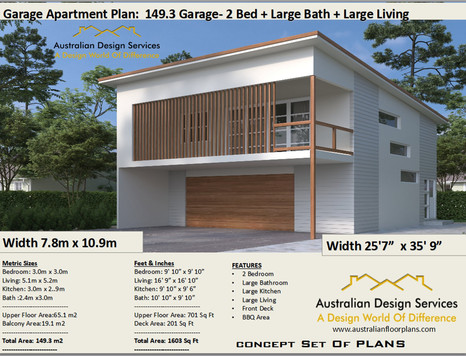 149.3-2020 Garage Apartment Kit Home