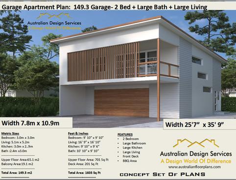 149.3-2020 Garage Apartment Kit Home