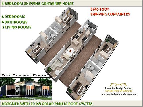 Cargo  home:Titian 40ft 89.1    Concept Home Plan