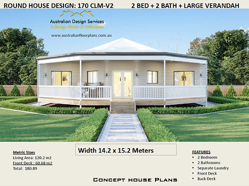 Small Round Home Design: 170CLM-V2 : 180 m2