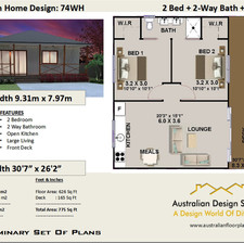 74wh Free 2 Bed Homestead House Plan Australia